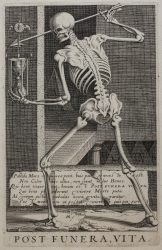 Post Funera, Vita [Allegory of Fame after Death] by Hendrick Hondius I at