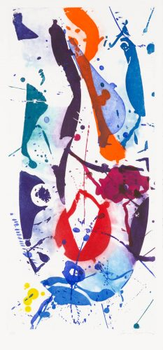 The Five Continents in Summertime (one of five plates; SFE-020) by Sam Francis at Galerie d'Orsay