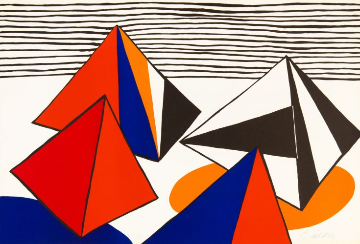 The Large Pyramids by Alexander Calder at Christopher-Clark Fine Art