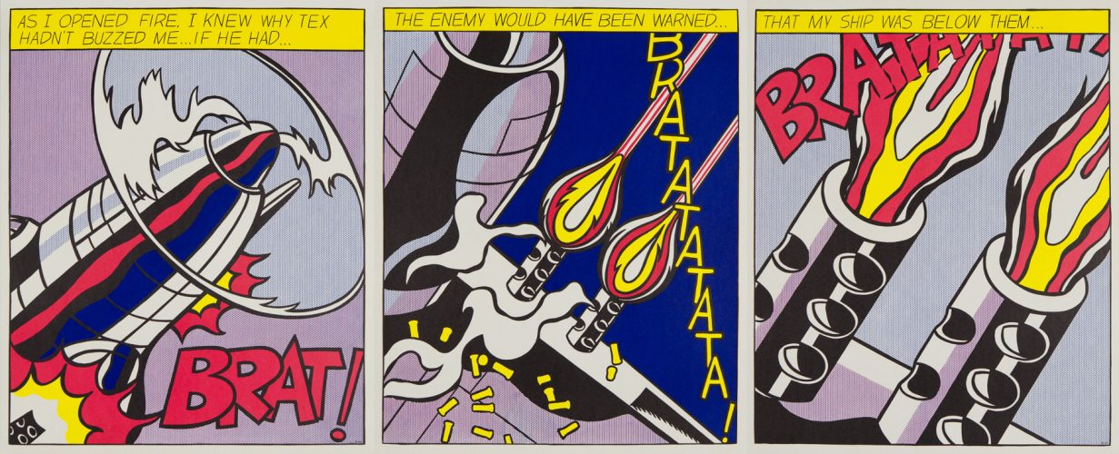 As I Opened Fire by Roy Lichtenstein at Christopher-Clark Fine Art
