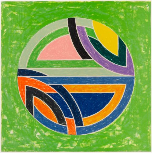 Sinjerli Variation Squared with Colored Ground II by Frank Stella at