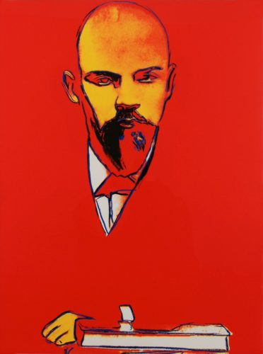 Red Lenin by Andy Warhol at