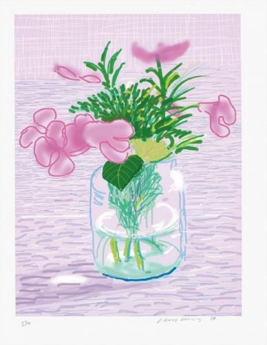 A Bigger Book with Untitled 329 by David Hockney at