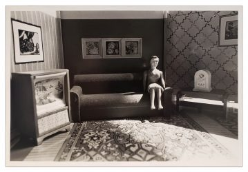 Woman Listening to the Radio by Laurie Simmons at
