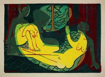 Drei Akte im Walde (Three Nudes in the Forest) by Ernst Ludwig Kirchner at