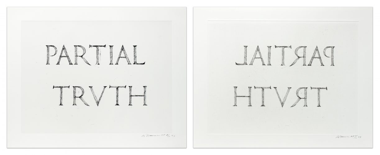 Partial Truth by Bruce Nauman at