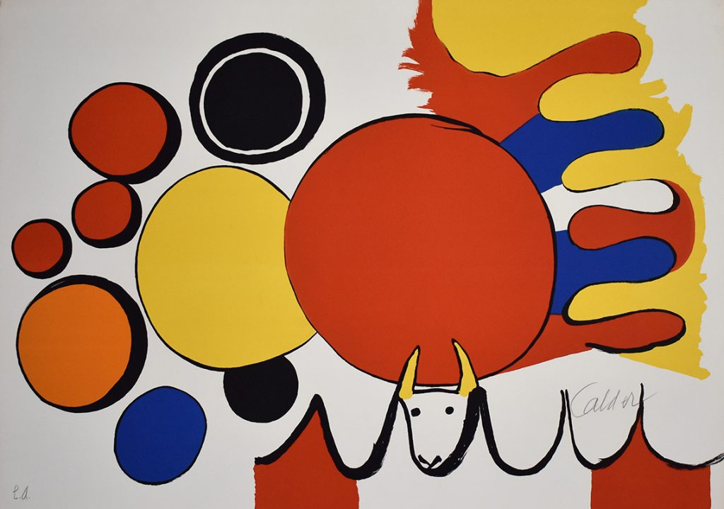 Alexander Calder Print: Bull and Circles, from: Poems to Watch
