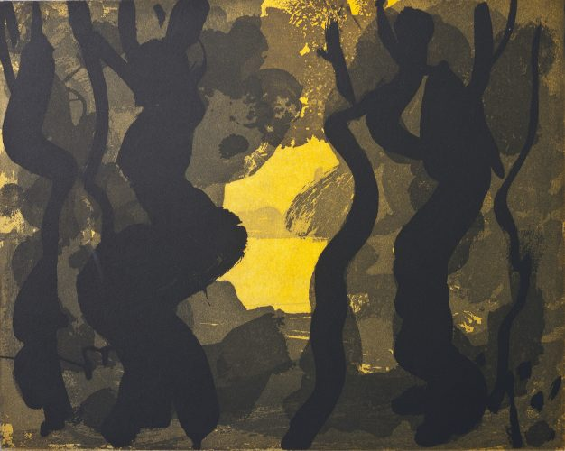 Through the Trees (yellow) by Paul Resika at