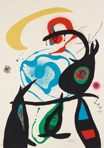 """Untitled, Plate 8 from: """"Oda à Joan Miró"""" by Joan Miro at Hidden"""