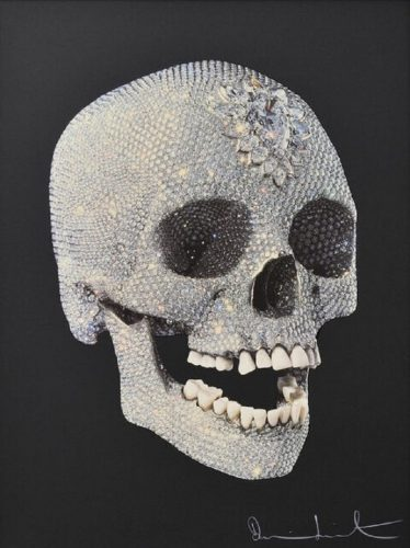 For the Love of God (3/4, Black) by Damien Hirst at Hidden