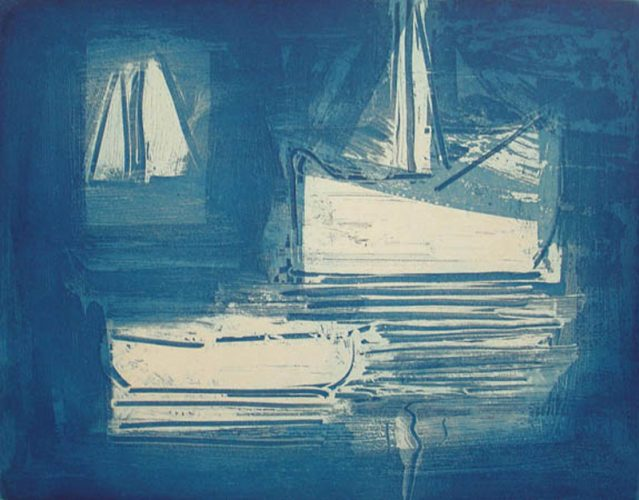 Blue Waltz 1 by Paul Resika at