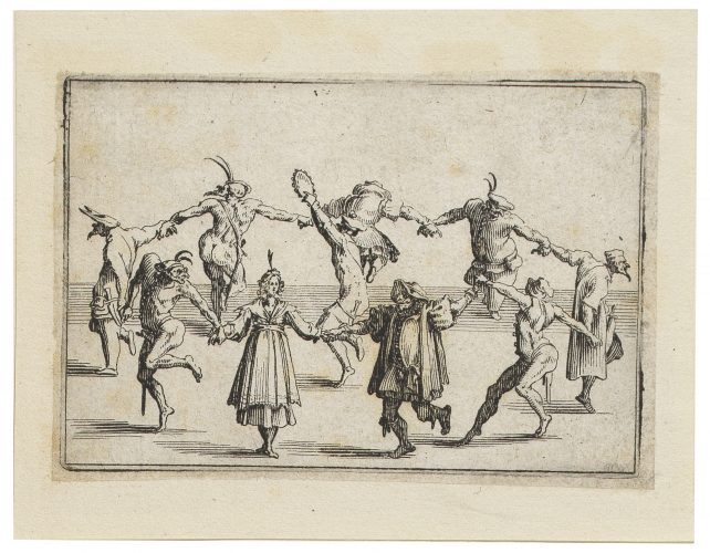 La Ronde, from the Nancy Set. by Jacques Callot at