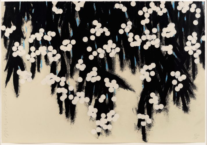 Mimosa by Donald Sultan at Leslie Sacks Gallery (IFPDA)