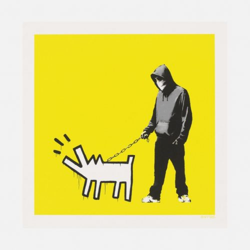 Choose Your Weapon (Lemon Yellow) by Banksy at