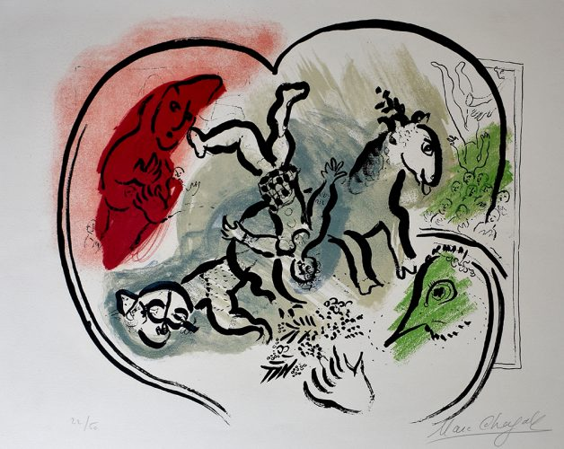 The Heart of the Circus | Le Coeur de Cirque by Marc Chagall at