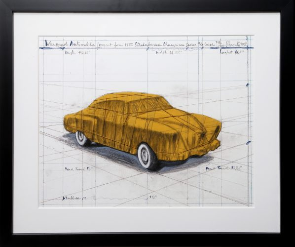 Wrapped Automobile (Project for 1950 Studebaker Champion Series) by Christo and Jeanne-Claude at