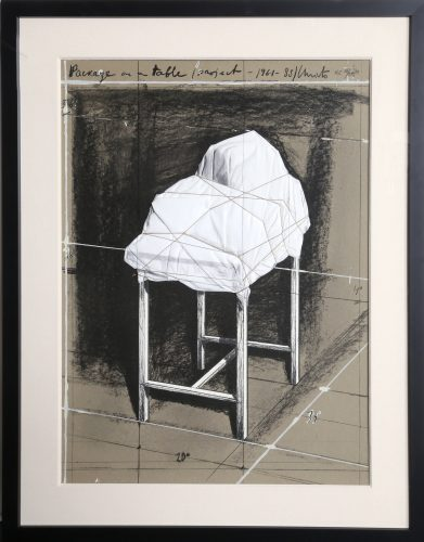 Package on a Table (Project 1961-88) by Christo and Jeanne-Claude at