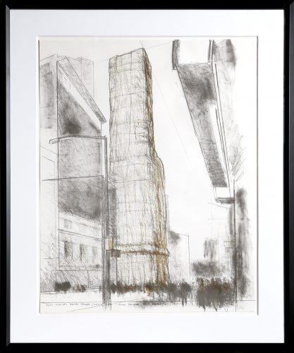 Allied Chemical Tower, Packed, Project for Number 1 Times Square by Christo and Jeanne-Claude at