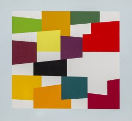 Multicolor on White by Yaacov Agam at