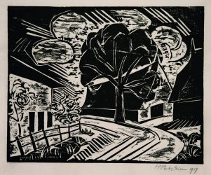 Am Dorfeingang (Village Entry) by Max Pechstein at